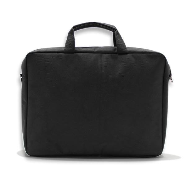 сумка портфель для ноутбука для бумаг поездка черная промо реклама сзади