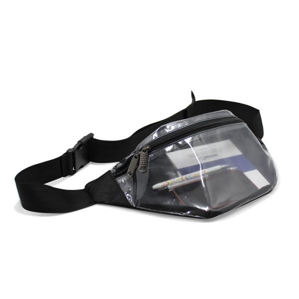 сумка поясная маленькая для документов для путешествий компактная прозрачная с телефоном