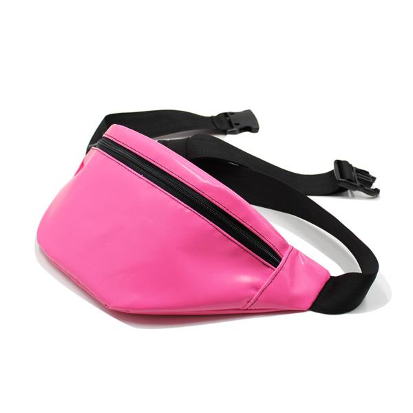 сумка поясная маленькая для документов для путешествий компактная розовая спереди