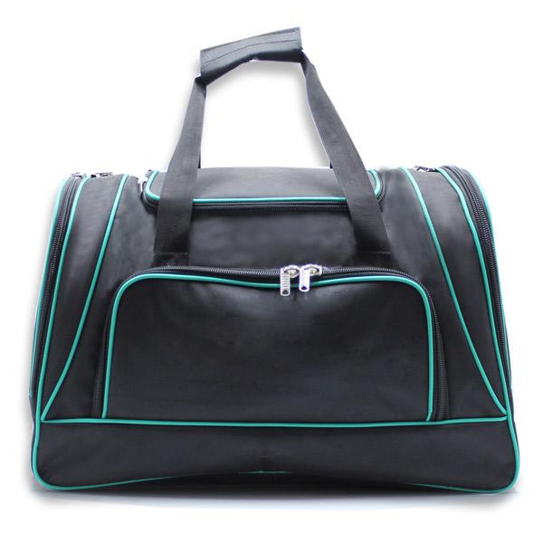 сумка спортивная большая мужская для путешествий дорожная черная спереди