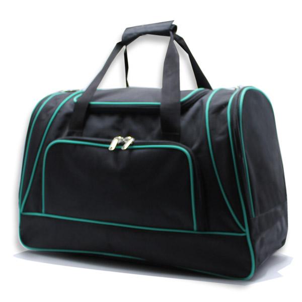 сумка спортивная большая мужская для путешествий дорожная черная сбоку