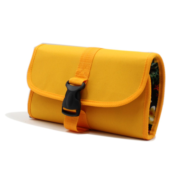косметичка органайзер дорожная сетка желтый сбоку