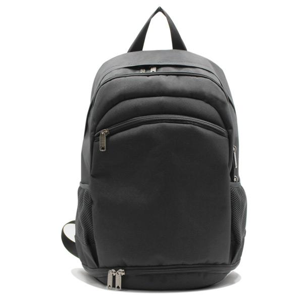 рюкзак спортивный для фитнеса универсальный молодёжный черный спереди