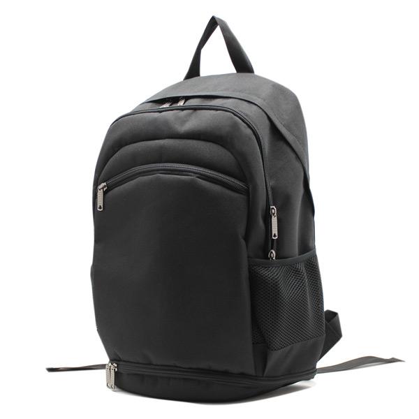 рюкзак спортивный для фитнеса универсальный молодёжный черный сбоку