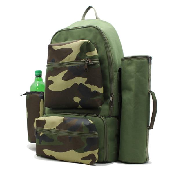 рюкзак туристический для охоты исследования путешествия хаки сбоку
