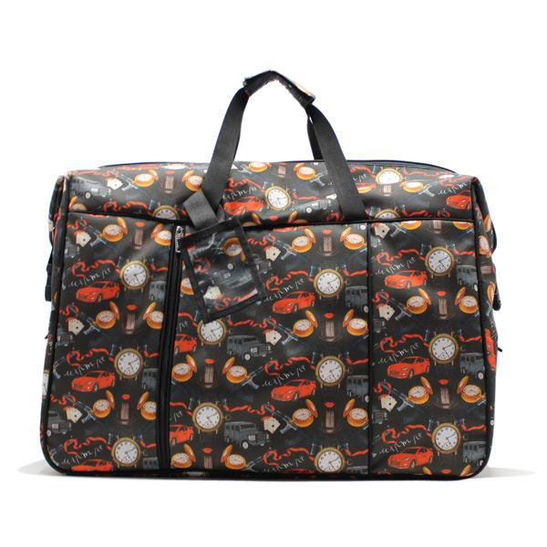 сумка дорожная спортивная большая принтованная женская спереди