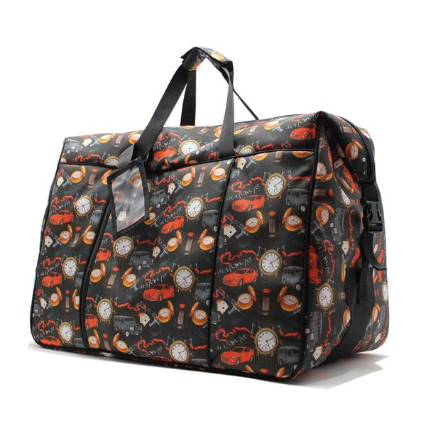 сумка дорожная спортивная большая принтованная женская сбоку