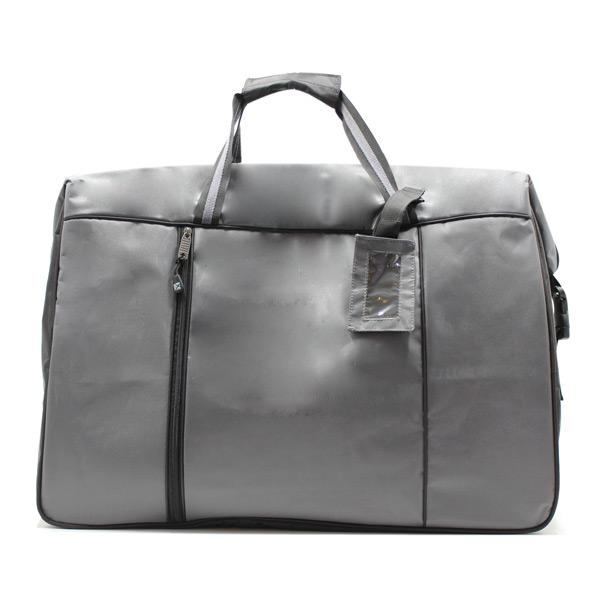 сумка дорожная спортивная большая серая мужская спереди