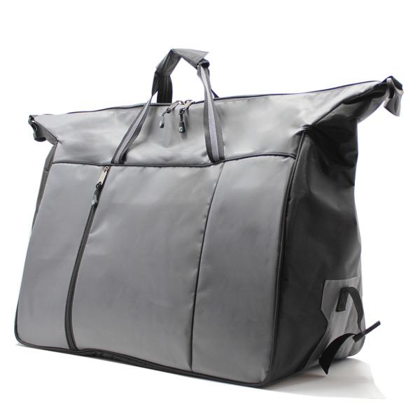 сумка дорожная спортивная большая серая мужская растёгнута