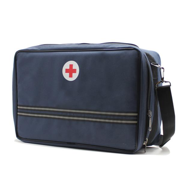 сумка медицинская для ингалятора синяя сбоку