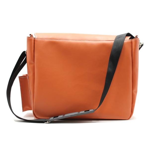 сумка на плечо промо акция реклама фирменный стиль оранжевая сзади