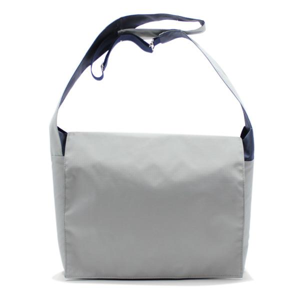 сумка плечо повседневная универсальная серая курьер спереди