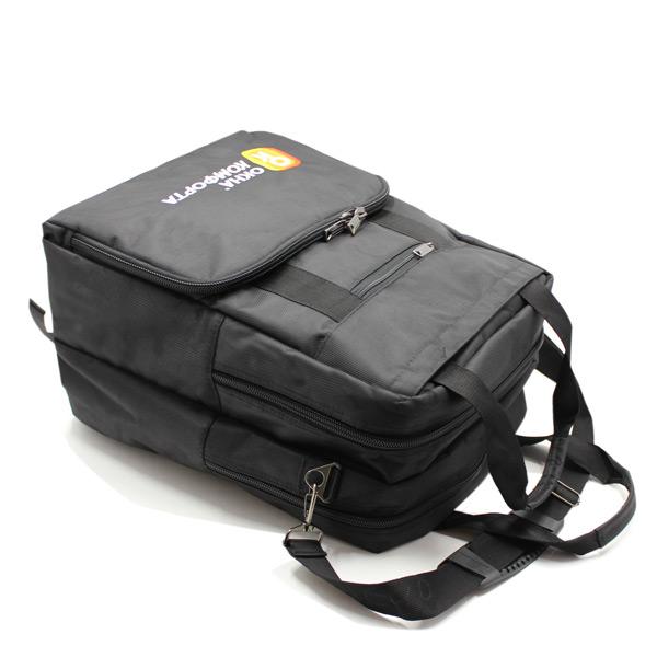 сумка рюкзак трансформер реклама ноутбук унисекс черный сверху