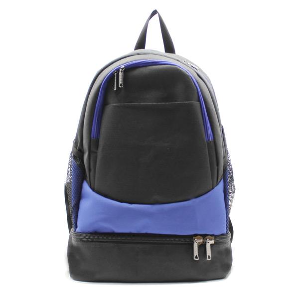рюкзак спортивный с отделением для обуви для фитнеса большой чёрный спереди