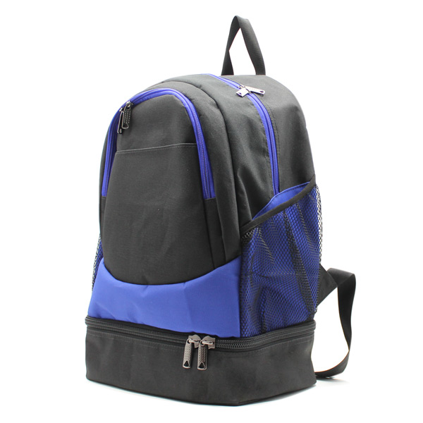 рюкзак спортивный с отделением для обуви для фитнеса большой чёрный карманы