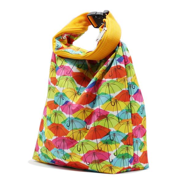 сумка косметичка комплект с ручкой цветная зонтики сбоку