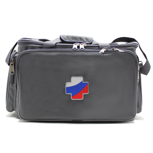 сумка для медицинского оборудования серая большая спереди