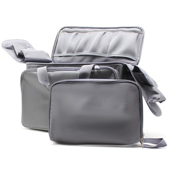 сумка для медицинского оборудования серая большая спереди комплект