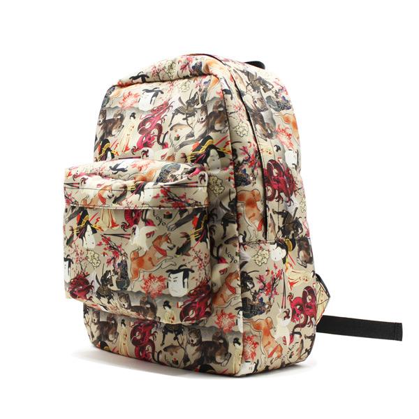 рюкзак простой принтованный унисекс фирменный стиль сбоку
