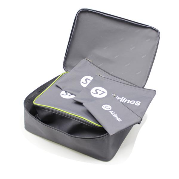 сумка дорожная набор чехол комплект в чемодан косметичка серый конверт