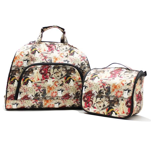сумка дорожная небольшая универсальная унисекс принтованная комплект