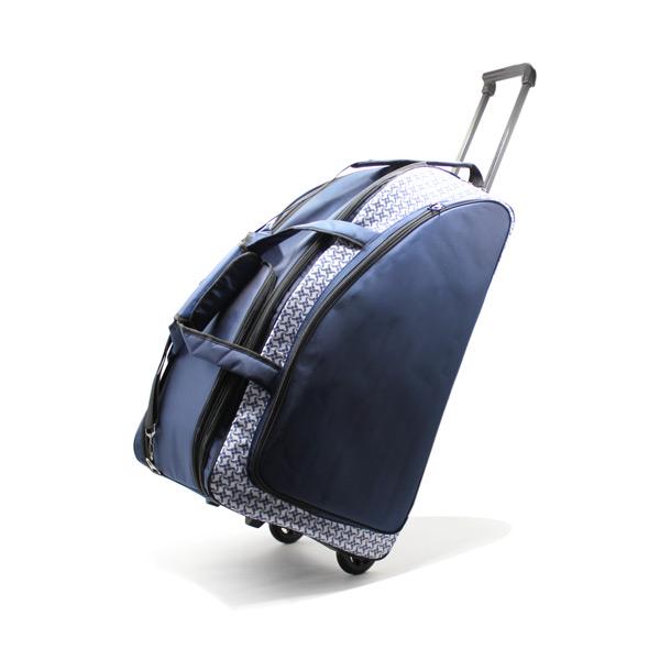 сумка колёсная спортивная дорожная багаж большая синяя на колёсах