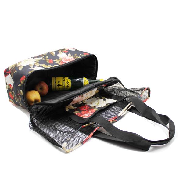 сумка пляжная из сетки со вторым дном внутри