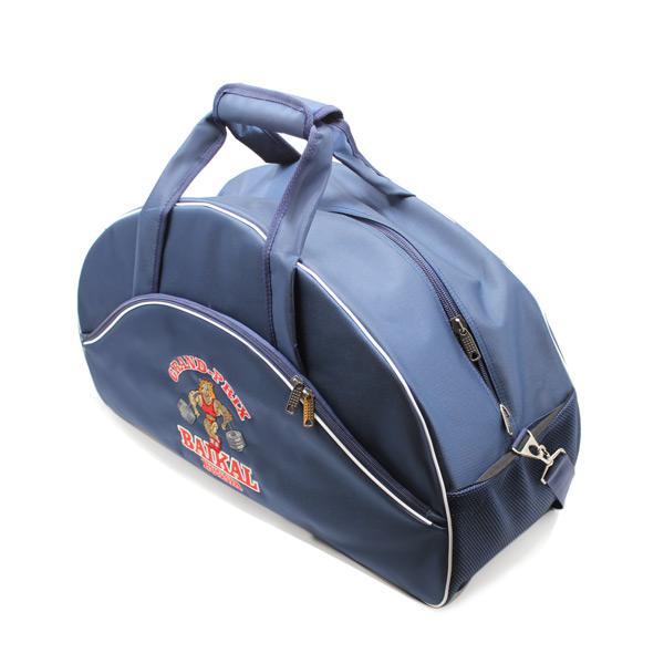 сумка спортивная клуб фирменный стиль бодибилдинг синяя