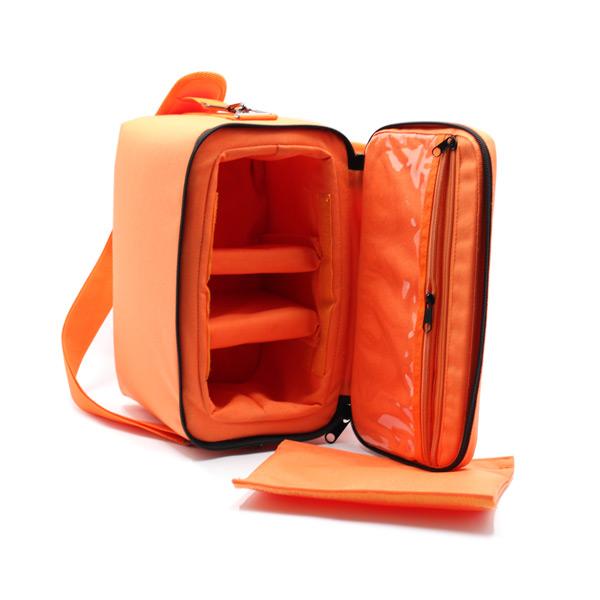 сумка для оборудования в поездку оранжевая внутри