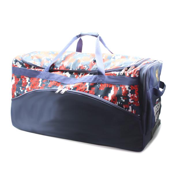 сумка колёсная дорожная спортивная для команды сбоку