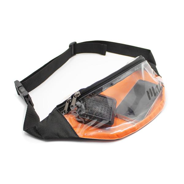 сумка поясная прозрачная из плёнки