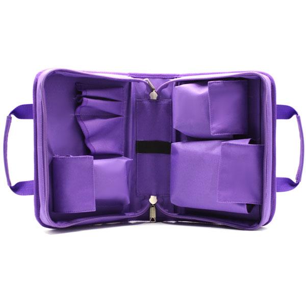 сумка для медицинского прибора с раскладкой и карманами внутри