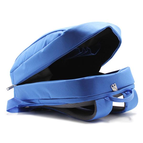 рюкзак городский синий для промо с логотипом внутри