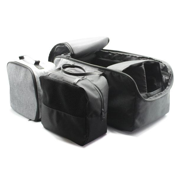 сумка для путешествий ручная кладь серая комплект