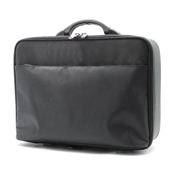 сумка кейс чёрный для хранения бумаг сбоку