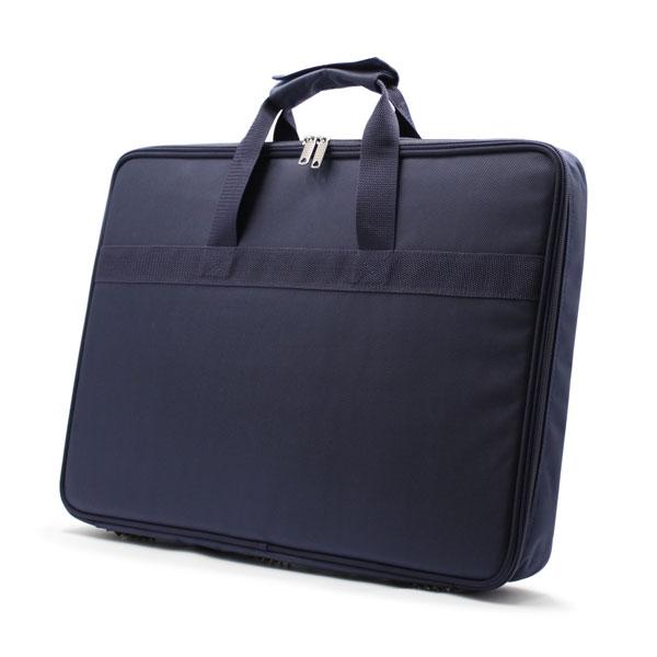 сумка папка для деталей большая синяя сбоку