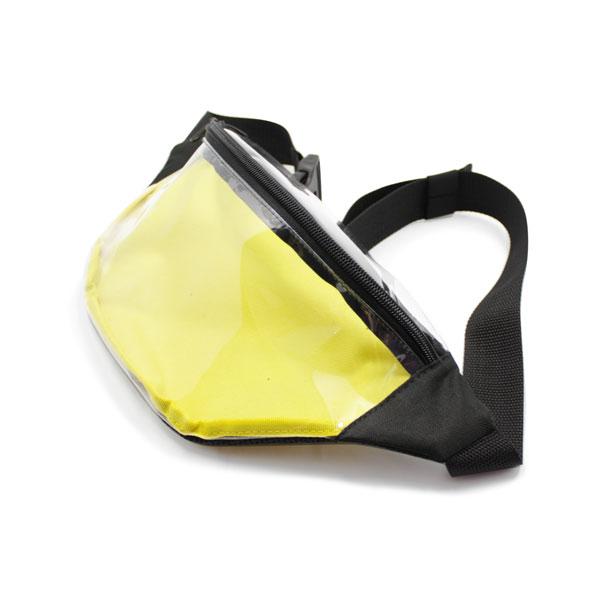 сумка на пояс из пленки прозрачная сбоку