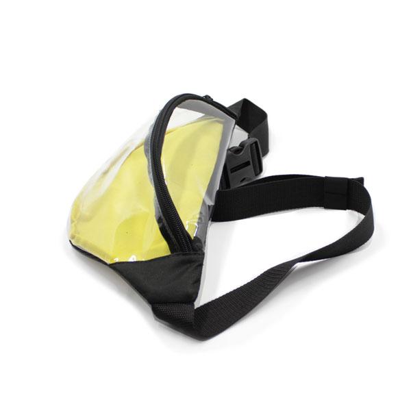 сумка на пояс из пленки прозрачная сверху