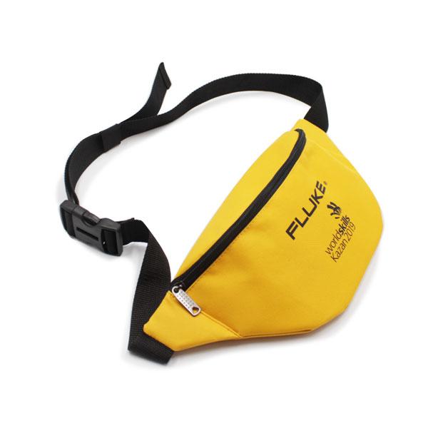 сумка поясная большая жёлтая для рекламы сверху