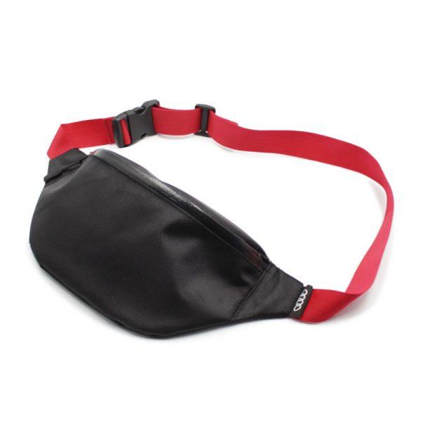 сумка поясная черная с обратной молнией vip audi спереди