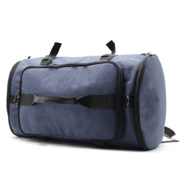 сумка рюкзак синий с лямками и ручками как сумка