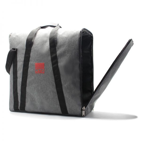 сумка плотная большая серая для прибора с боковым открытием с клапаном