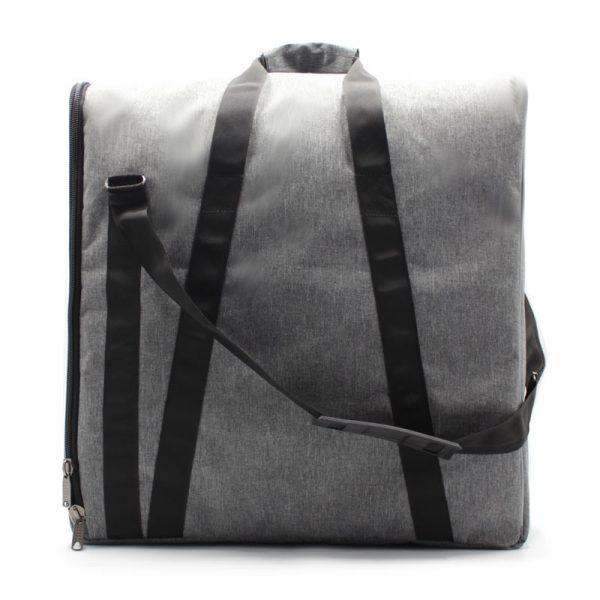сумка плотная большая серая для прибора с боковым открытием сзади